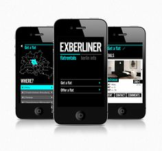 Exberliner. Mobile design by Raïssa Lara Fasel, via Behance
