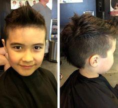 boy's faux hawk hairstyle