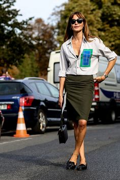 Неделя моды в Париже S/S 2015: street style. Часть V (фото 13)