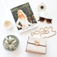 Poolside essentials... Jessica Purse, Monroe Sunnies & A great Rachel Zoe read! #streetstyle