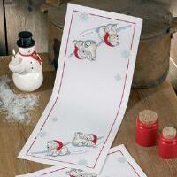 Permin® Polar Bears Table Runner Counted Cross-Stitch Kit