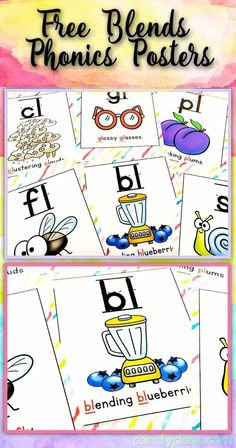 Snag up these FREE phonics posters for blends! Print them to use as anchor charts, or you can print 4 per a page for fun word work activities and other ideas. These are great for teaching during a morning meeting or use in a small group during guided rea First Grade Phonics, First Grade Reading, First Grade Classroom, Primary Classroom, Future Classroom, Word Work Activities, Phonics Activities, Classroom Activities, Preschool Ideas