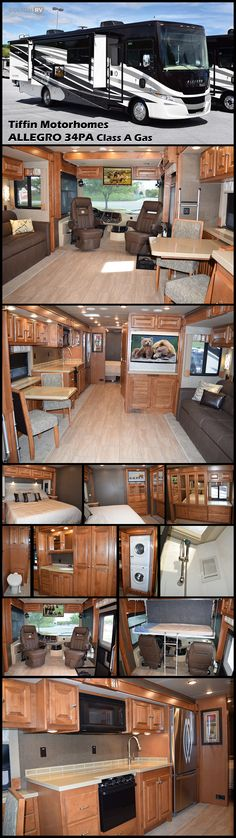 Whether it is across the country or to the campground for a long weekend, the ALLEGRO 34PA Class A Gas motorhome by Tiffin Motorhomes will get you there in style and comfort! Inside this model you will find quad slides, a rear bedroom, and plenty of space to enjoy your time away.