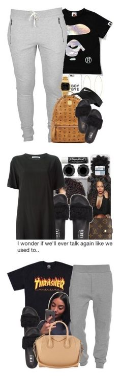 """Slides Sets "" by superforeverlove1 ❤ liked on Polyvore featuring Casio, Lana, MCM, NIKE, Puma, Louis Vuitton, T By Alexander Wang, Chapstick, Acne Studios and Givenchy"