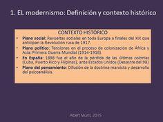 Contexto histórico del modernismo