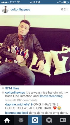 AHHHHH COLTON HAYNES IS A DIRECTIONER!! I REPEAT COLTON HAYNES IS A DIRECTIONER!!! ♡♡