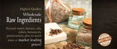 Bulk Apothecary site with everything you need to make homemade candles, soaps, lotions, beauty products, and tons more.