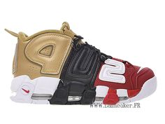 100% authentic 018e6 ad235 Officiel Nike Air More Uptempo Gs Supreme 902290-002 Chaussure De  Basketball Pas Cher Femme