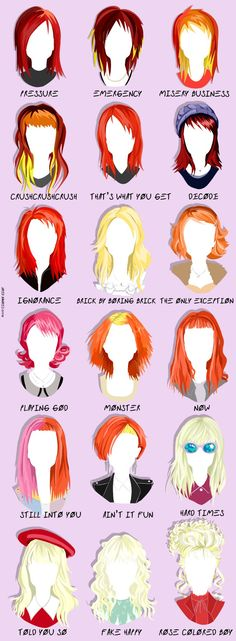 Paramore [] Hayley has always been a hair inspiration for me. Banda Paramore, Paramore Quotes, Paramore Lyrics, Paramore Tattoo, Paramore Hayley Williams, Hayley Paramore, Hayley Williams Quotes, Estilo Hayley Williams, Emo Hair