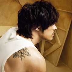 So Ji Sub, cute tattoo ...