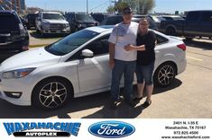 Happy Anniversary to Brett on your #Ford #Focus from Justin Bowers at Waxahachie Ford!  https://deliverymaxx.com/DealerReviews.aspx?DealerCode=E749  #Anniversary #WaxahachieFord