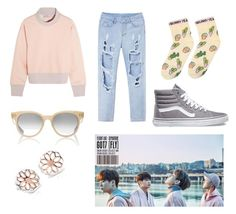 """aja~ 14 Got7 inspired  (FLY)"" by ajafashion ❤ liked on Polyvore featuring adidas, Dita, Blue Nile and Vans"