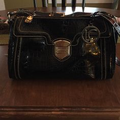 Liz Claiborne Black patent leather bag Black patent leather bag Liz Claiborne Bags Satchels