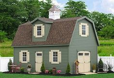 WOW! This is a 2-story shed!  I wish they delivered to GA! This would be PERFECT for what I'm looking for and even looks like a little house!
