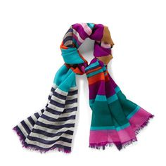 Multi Stripe Scarf LWS1189 | ®