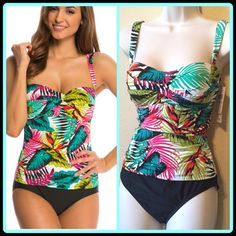 PALM TWIST FRONT ONE PIECE [JANTZEN] 🆕With Tags $116 Retail + Tax   Feminine florals never go out of style!  *One piece swimsuit. *Sweetheart neckline with twist front detail. *Adjustable lingerie straps. *Built-in fit flexible cup *Built-in tummy control panels. *Fully lined. *Jantzen logo plate at back.  🛍 2+ BUNDLE=SAVE  ‼️NO TRADES--NO HOLDS--NO MODELING  💯 Brand Items Authentic   ✈️ Ship Same Day--Purchase By 2PM PST   🖲 USE BLUE OFFER BUTTON TO NEGOTIATE  ✔️ Ask Questions Not…