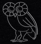 Rice University Owls Rhinestone Transfer