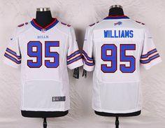 16851a668e0 Men Buffalo Bills 95 Kyle Williams White Elite Nike NFL Jerseys John  Miller, Seantrel Henderson