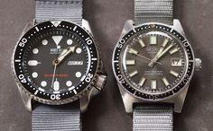 Seiko SKX007 and Seiko 62MAS