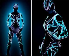 Light Fashion: Flexible Lighted Suits Look Like Tron in Real Life - by  Visual Drugstore