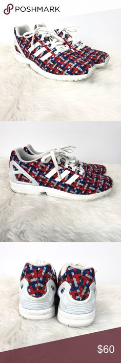5362b143c ❄️Adidas Torsion Zx Flux Colorful 8-bit Sneakers Adidas 6.5 Womens Torsion Zx  Flux