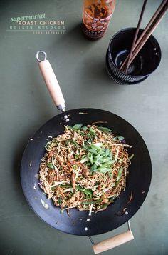 Supermarket Roast Chicken Hoisin Noodles