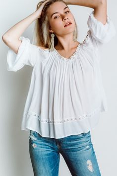 Rebecca Minkoff Deneuve Top in White