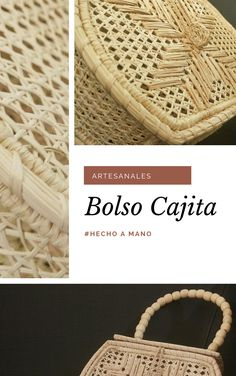 Bolso Cajita Straw Bag, Types Of Tissue, Tejidos, Crates, Hand Made, Totes, Places