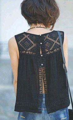 Blusa con bordado estilo mexicano