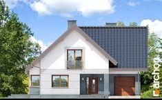 Dom w miłowonkach Design Case, Modern House Design, Home Fashion, Garage Doors, Shed, Villa, Exterior, Outdoor Structures, Cabin