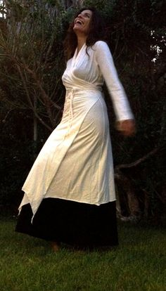 wrap dress cotton fairy long gown cardigan white by pazitive, $150.00