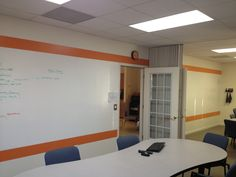 Lots of IdeaPaint at Summation360. Bright color is WallPops!