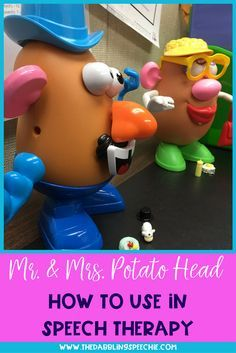 Mr. Potato Head Speech Therapy- Easy fun ways on how you can work on speech and language skills with this fun toy!