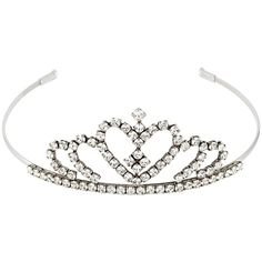 Saint Laurent Embellished Tiara ($1,495) ❤ liked on Polyvore featuring accessories, hair accessories, metallic and yves saint laurent