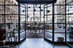Rare Bookseller' Office Space in Surry Hills by Busatti Studio Modern Library, Library Design, Home Office Design, House Design, Interior Design Awards 2018, Australian Interior Design, Home Libraries, Public Libraries, Home Office Furniture