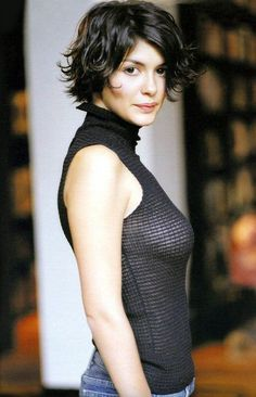 Audrey Tautou I think this is how I want my hair. Short and messy.that way I don't have to comb it ; Short Hair Long Bangs, Short Wavy, Short Hair Cuts For Women, Short Hairstyles For Women, Trendy Hairstyles, Bob Hairstyles, Short Haircuts, Asian Hairstyles, Short Layers