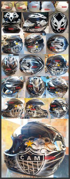 arte em capacete