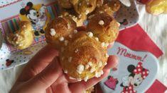Chouquettes Mickey Dessert Recipes, Desserts, Gingerbread Cookies, Pancakes, Breakfast, Kawaii, Food, Vanilla Sugar, Disney Recipes