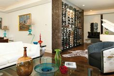 12 Private Wine Cellars You Have to See to Believe Wine Rack Wall, Wine Wall, Wall Design, House Design, Empty Spaces, Wine Cabinets, Wine Fridge, California Homes, Wine Storage