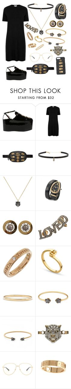 """""""Untitled #430"""" by amlak85 ❤ liked on Polyvore featuring Gucci, Warehouse, Carbon & Hyde, Bulgari, Tiffany & Co. and Kate Spade"""