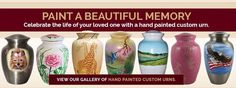 Our collection of funeral urns for ashes offers a wide variety of options befitting the beautiful life led by your loved one or pet. These artistic memorial containers offer you and your family the peace of mind and serenity that comes from knowing that you are helping your loved one find a beautiful, peaceful and unique resting place.