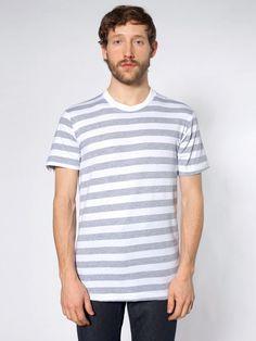 【ファインジャージーストライプショートスリーブTシャツ】柔らかくて肌触りが良く、フィット感も良い定番スタイル2001の…
