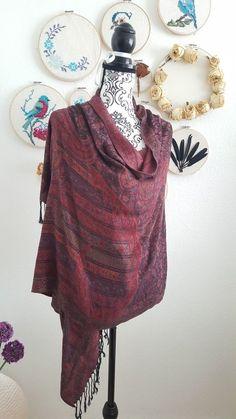 Schal Tuch Kopftuch Halstuch in rot schwarz