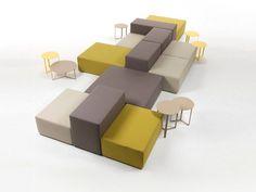 LOUNGE Canapé composable by Giulio Marelli Italia design M Outdoor Dining Furniture, Modular Furniture, Lounge Furniture, Furniture Design, Furniture Ideas, Furniture Stores, Bedroom Furniture, Lobby Furniture, Sofa Design