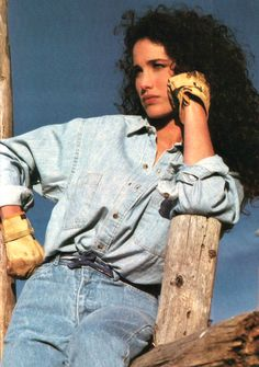 Andie in Vogue magazine modeling for The Gap,March, 1986.