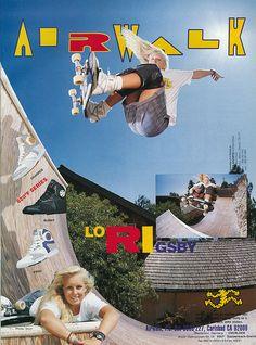 Airwalk Lori Ad, 1990 by daVsen, via Flickr