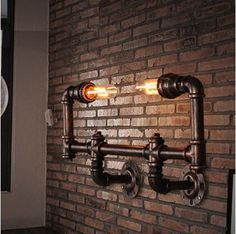 Retro Iron Water Pipe Edison Wall Lamp Metal Loft Style Vintage Industrial Wall Light Fixtures For Ailse Bar Home Lightings From Belinda_success, $382.92 | Dhgate.Com