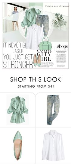 """Mentol Look"" by lucky-1990 ❤ liked on Polyvore featuring Buffalo and Yves Saint Laurent"