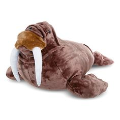 Melissa and Doug Walrus Plush Toy, Multicolor