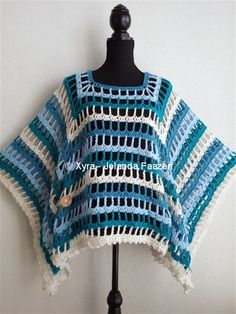 #PATR1021 #Xyra #Poncho #zomer #Omslagdoek #sjaal #haakpatroon #patroon #haken #gehaakt #crochet #summer #pattern #scarf #shawl #DIY #vierkant #square #open Patroon (NL) is beschikbaar via: Pattern (English-US) is available at: www.xyracreaties.nl www.ravelry.com/stores/xyra-creaties www.etsy.com/shop/XyraCreaties
